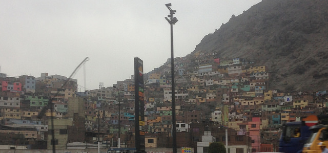 Informal housing on the outskirts of Lima